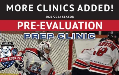 Pre-Evaluations Prep Clinic – 2021/2022 Season – More Clinics!
