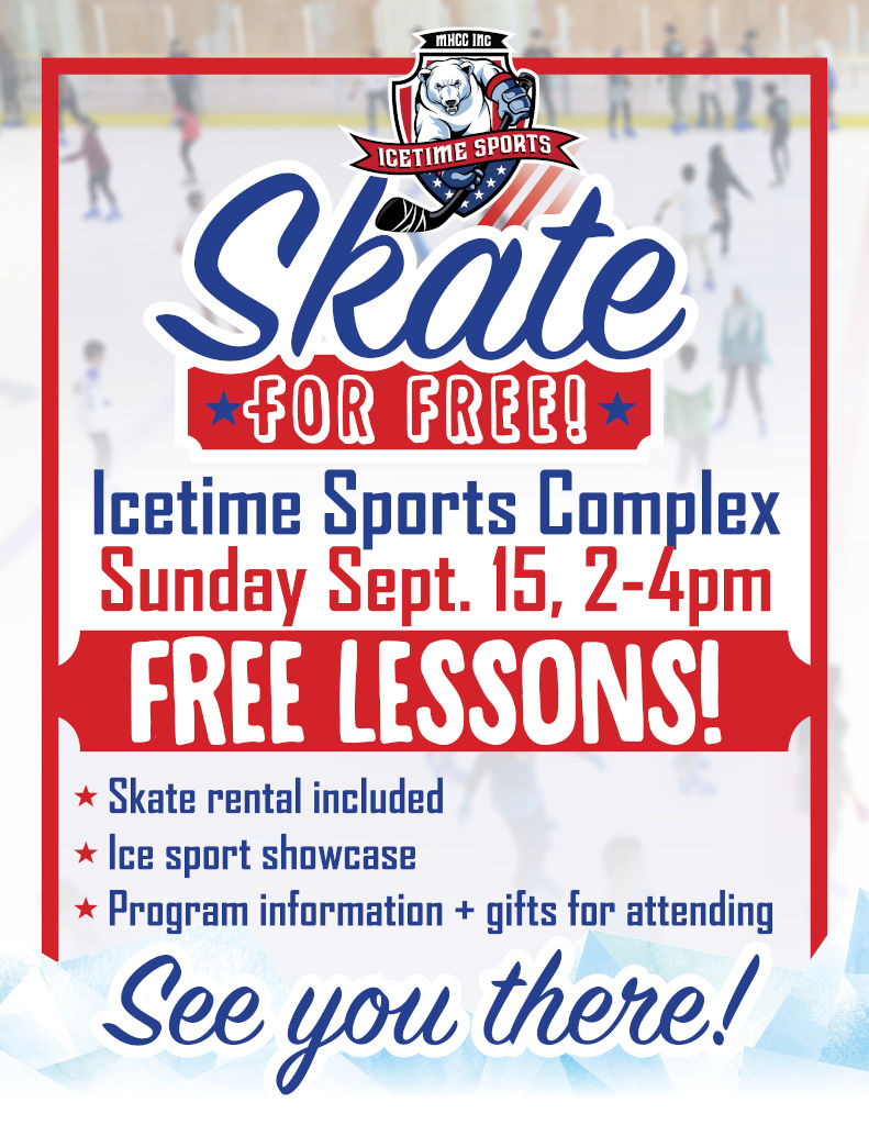 Skate for FREE @ IceTime Sports Complex