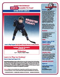 Learn to Play Hockey Flier