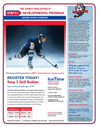 ice hockey developmental program flier