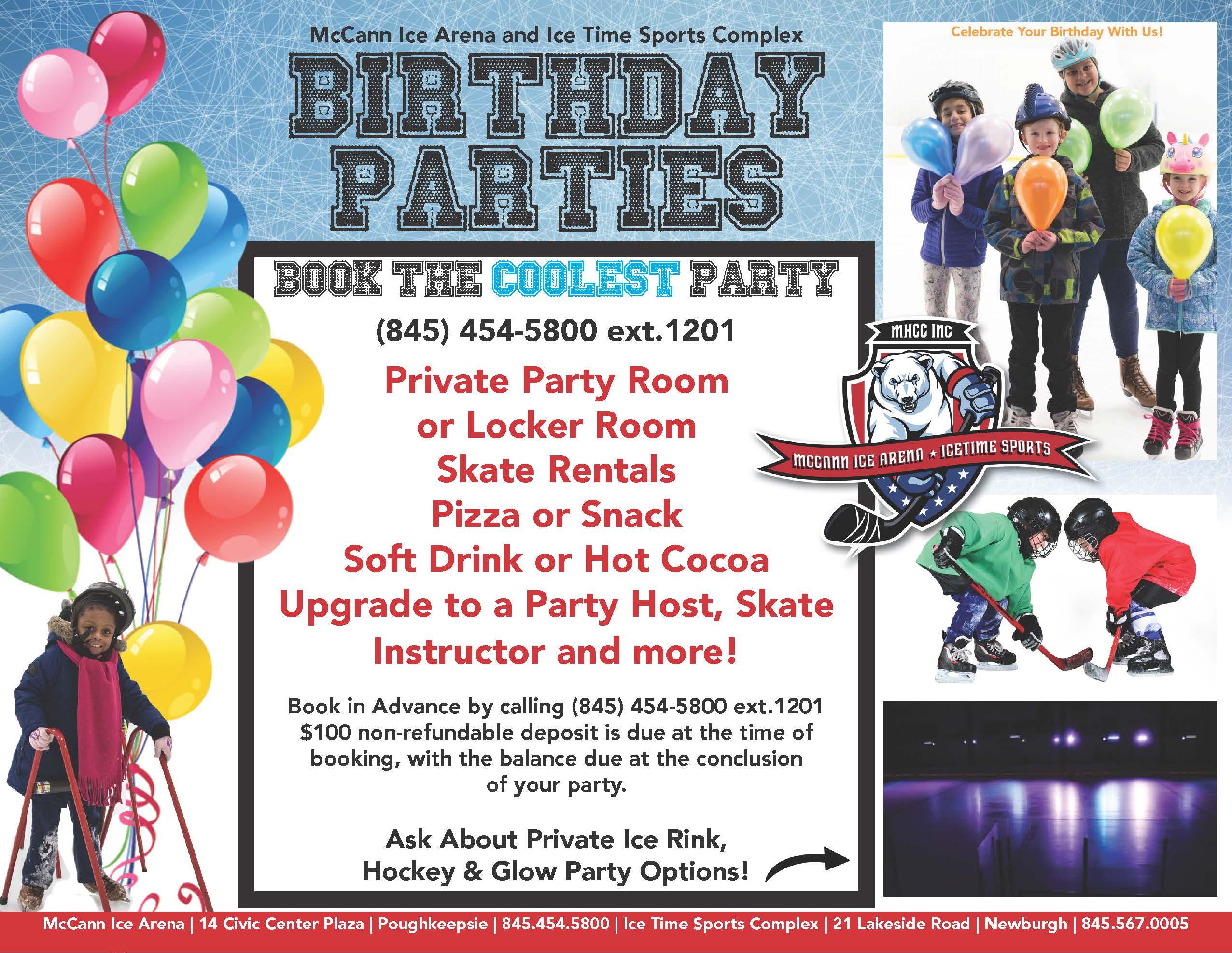 2020 Ice Skating Birthday Parties