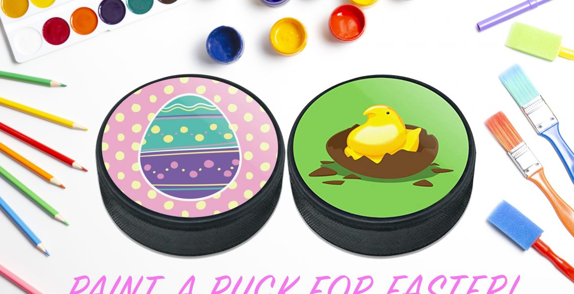 Paint a puck for Easter contest!
