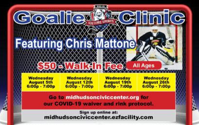 Icetime Goalie Clinic Featuring Chris Mattone!